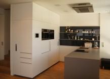 Küchenblock aus MDF, weiß lackiert