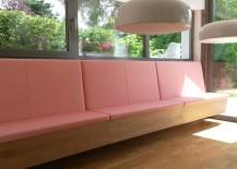 Küchenbank aus Eiche Vollholz, mit klassischer Truhe, Sitzfläche Aufklappbar