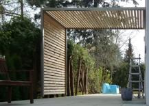 Sonnenschutz aus Lärchenholz