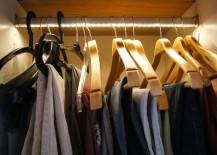 Beleuchtete Kleiderstange