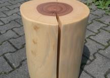 Baumhocker fein geschliffen und mit Öl poliert