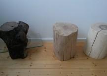 Hocker aus Baumstämmen